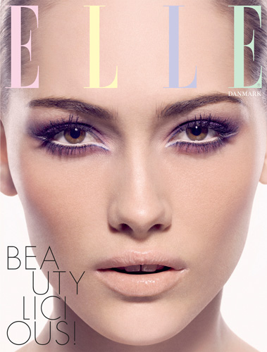 Elle beauty cover copyright beauty  photographer Kenneth Rimm copenhagen Denmark