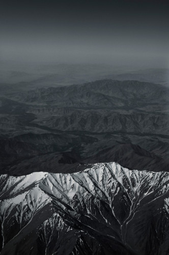 Afghanistan's snow covered mountains by photographer Kenneth Rimm