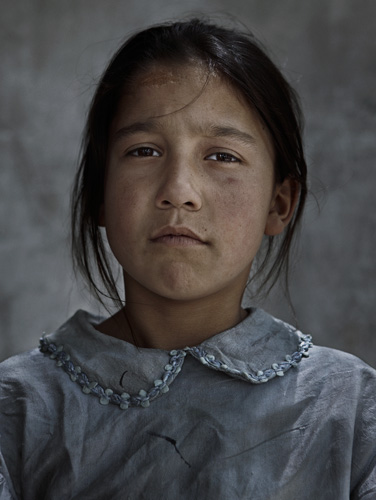 Afghan girl in Kabul Afghanistan portrait © by photographer Kenneth Rimm