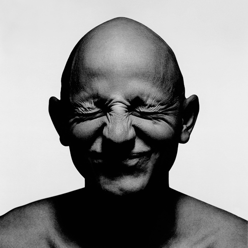 picture of bald man smiling Bald man closed eyes smiling portrait portrait photography inspiration photographer Kenneth Rimm